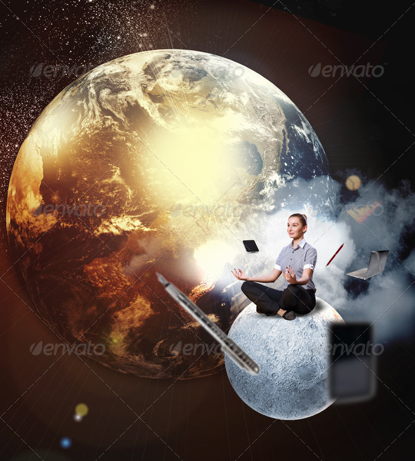 PhotoDune business woman meditating 4061237