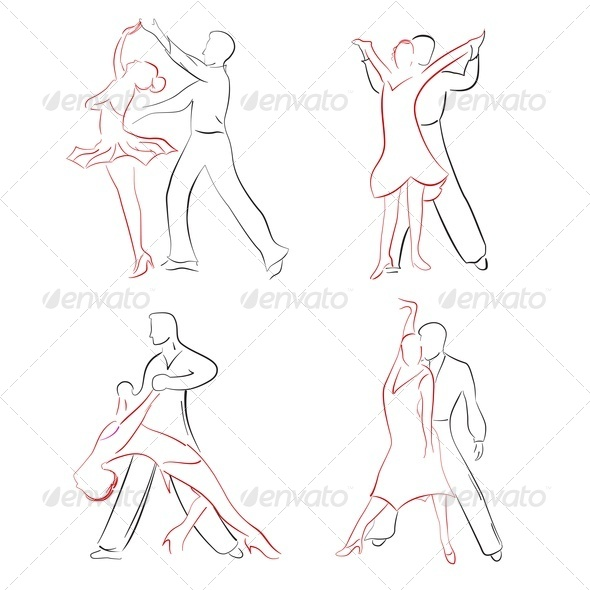 Drawing Lines In Keynote : Ballroom dancing graphicriver