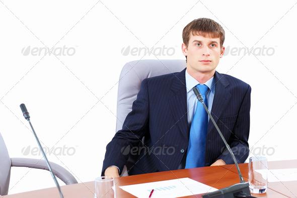 PhotoDune Businessman at meeting 4061314