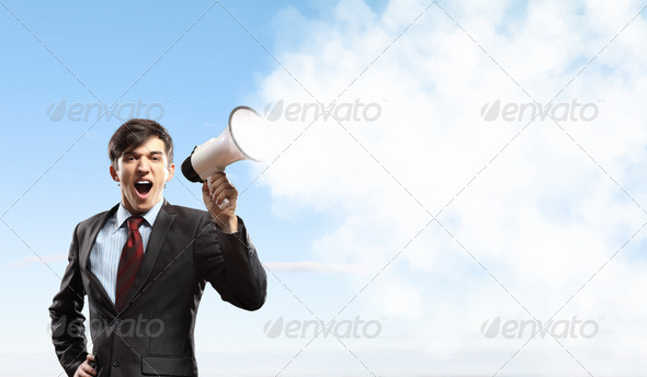 PhotoDune businessman with megaphone 4061316