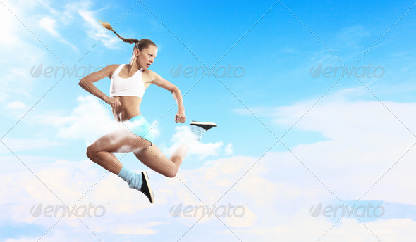 PhotoDune Image of sport woman jumping 4061320