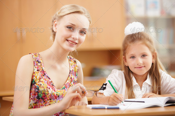 Teacher at school - Stock Photo - Images