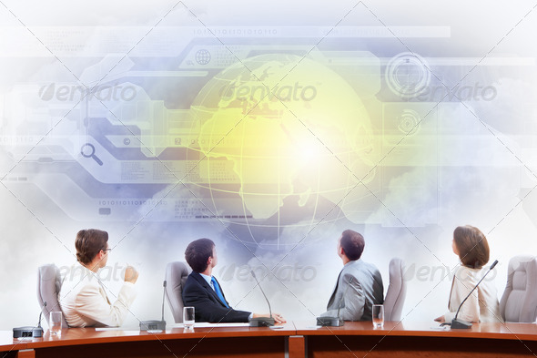 Business presentation - Stock Photo - Images