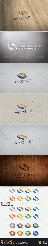 GraphicRiver Service Tech Logo Template 3931991
