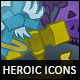 9 Heroic-Fantasy Classes Icons - GraphicRiver Item for Sale
