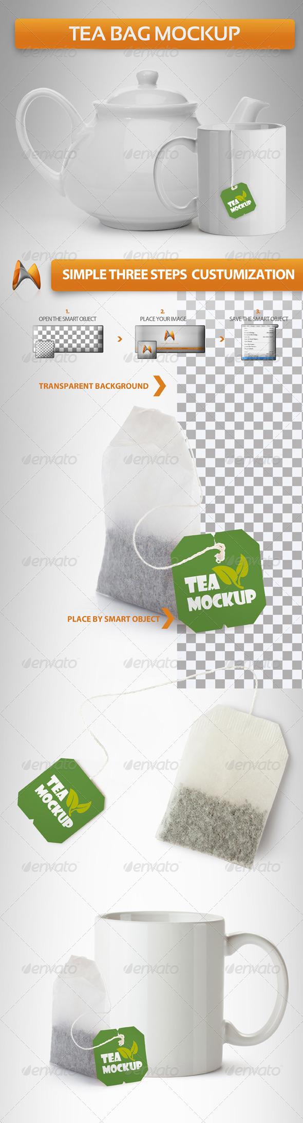 GraphicRiver Tea Bag Mockup 4061675