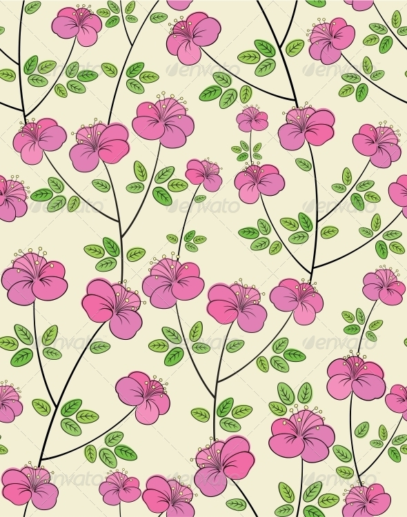 GraphicRiver Seamless flower pattern 4061690