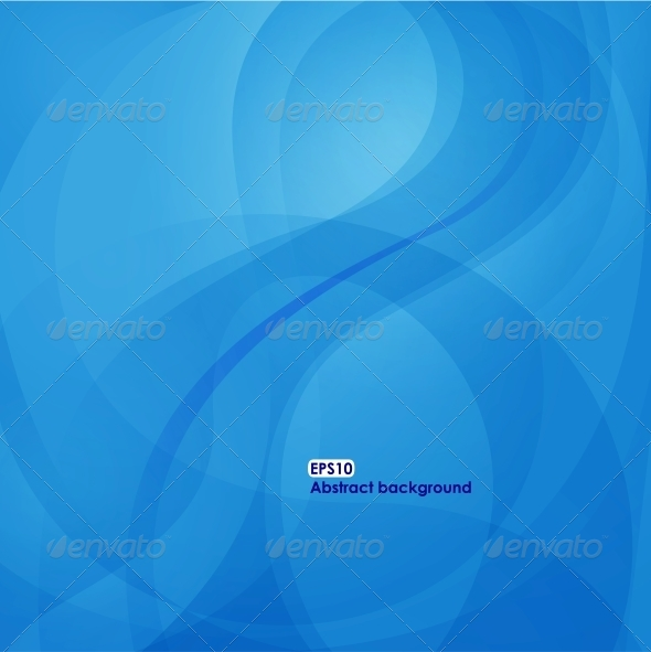 GraphicRiver EPS10 wave background in blue tones 4061693