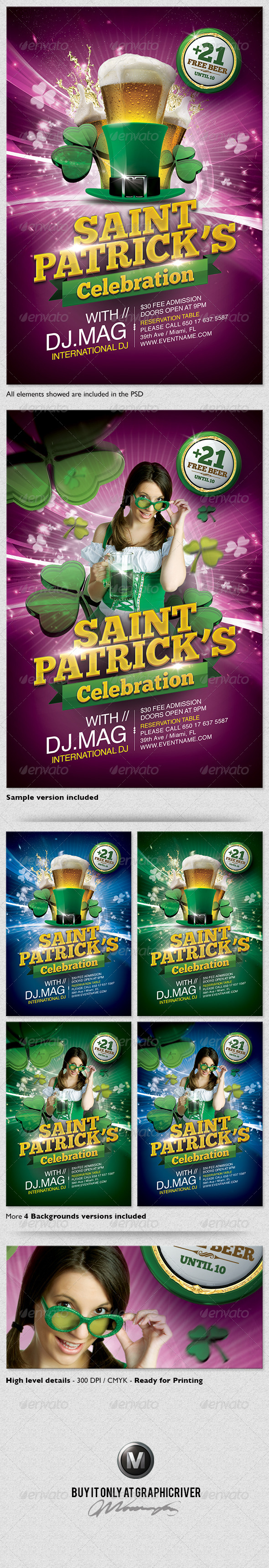 GraphicRiver St Patrick s Day Flyer Template 3953315