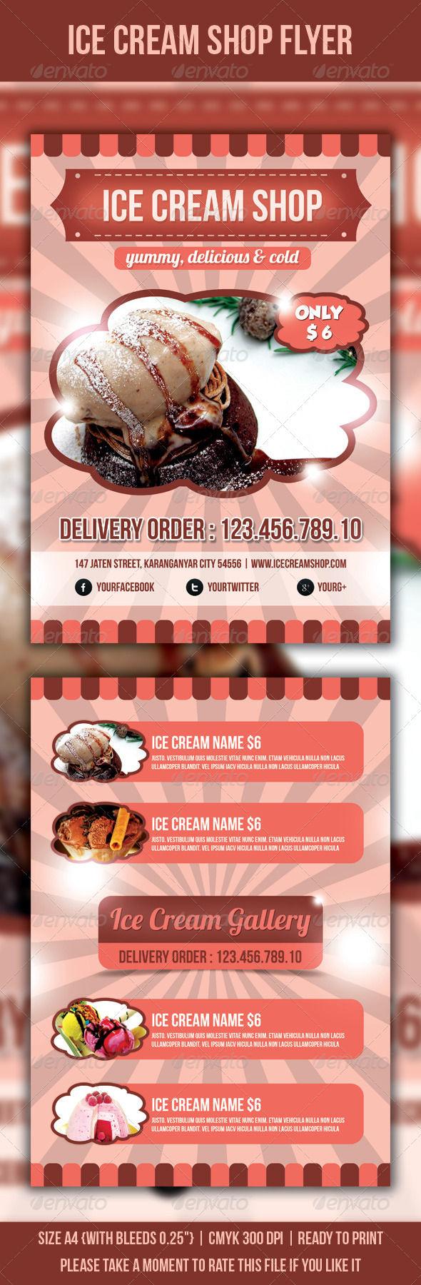 GraphicRiver Ice Cream Shop Flyer 3898023