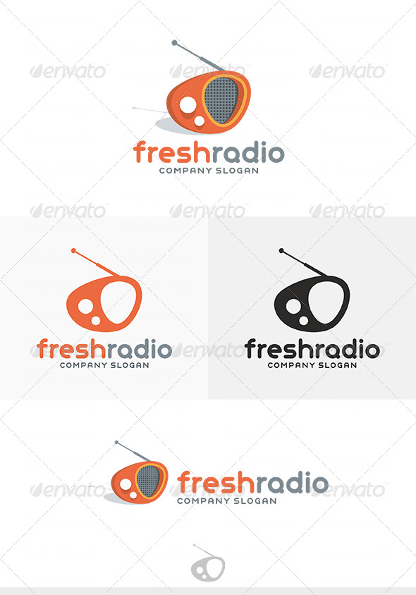 GraphicRiver Fresh Radio Logo 4061888