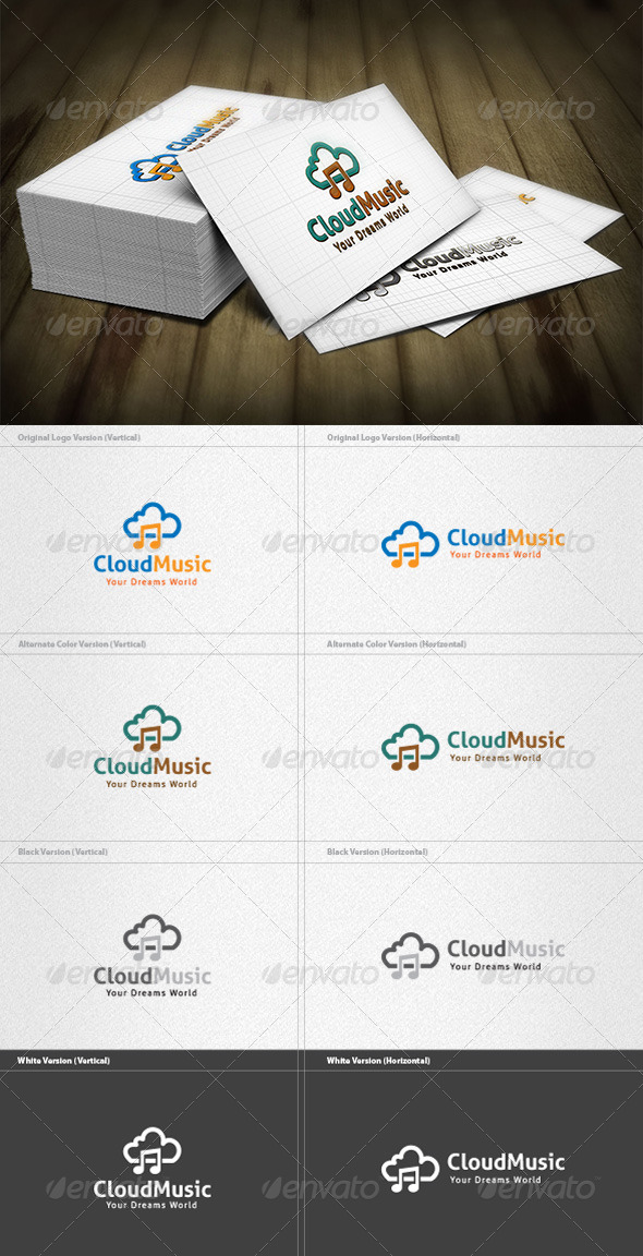 GraphicRiver Cloud Music Logo 3734958