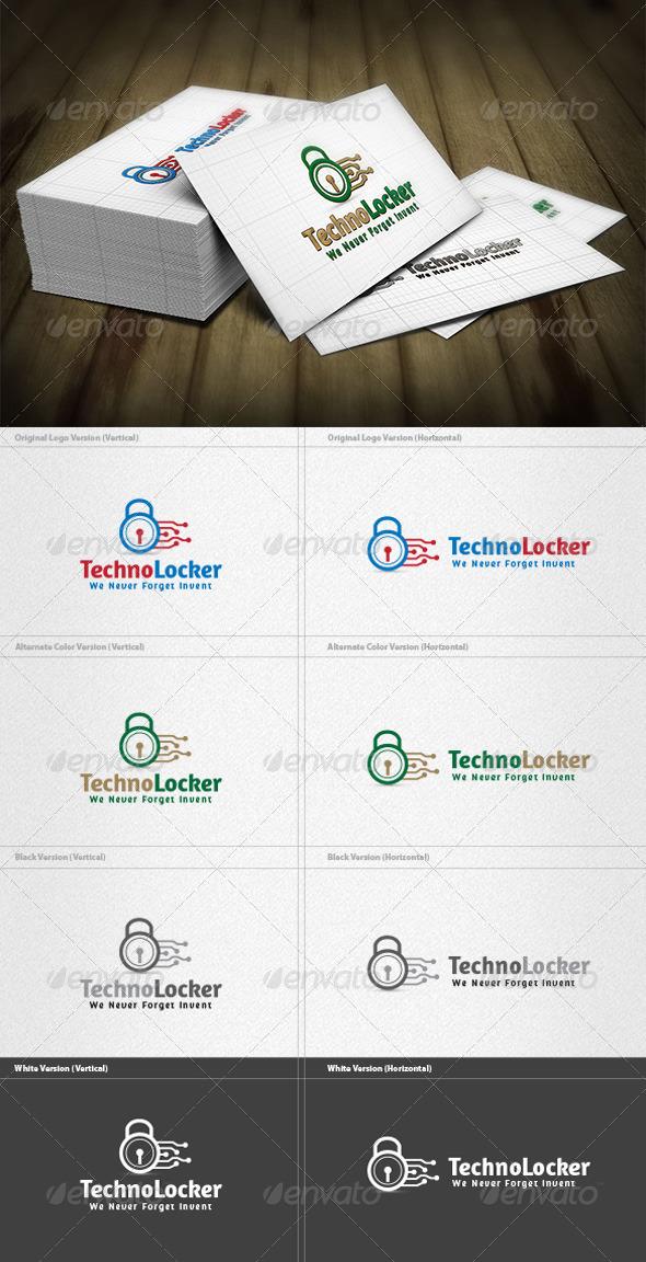 GraphicRiver Techno Locker Logo 3746301