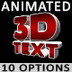 3D Animated Text - VideoHive Item for Sale