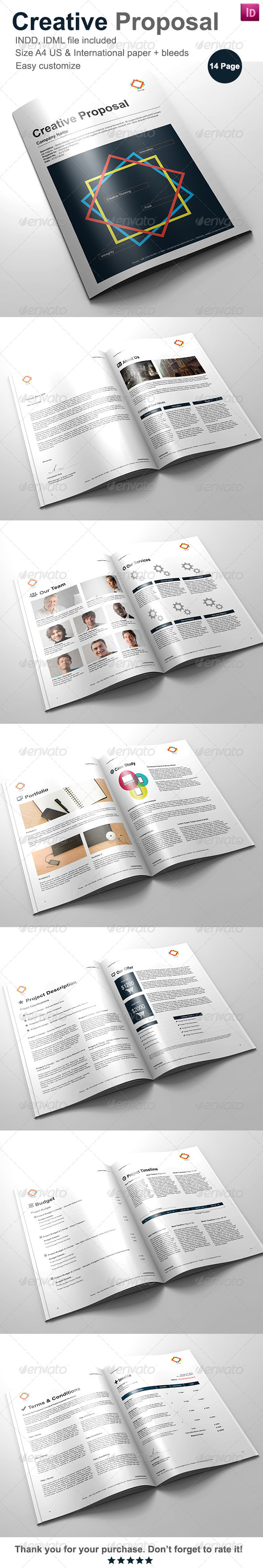 Gstudio Creative Proposal Template - Proposals & Invoices Stationery