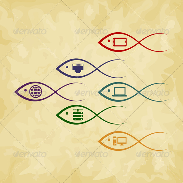 GraphicRiver Fish the computer 4062323