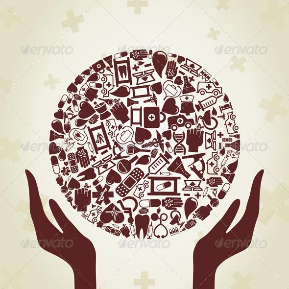 GraphicRiver Hand Medicine 2 4062344