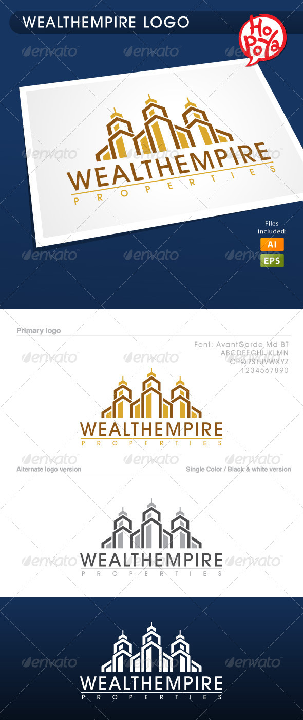 Wealth Empire Logo - Buildings Logo Templates