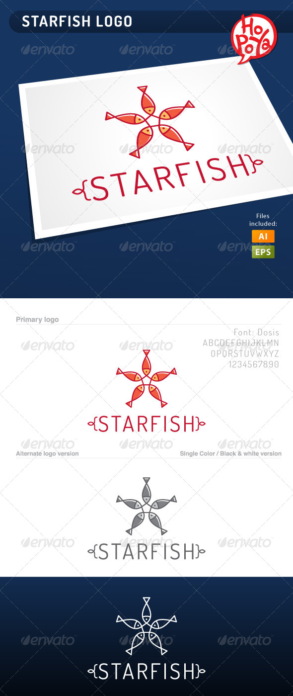 GraphicRiver Starfish Logo 4062476