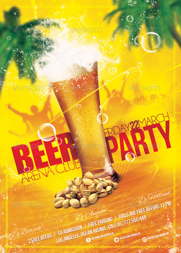 beer party poster  u0026 flyer template by sluap