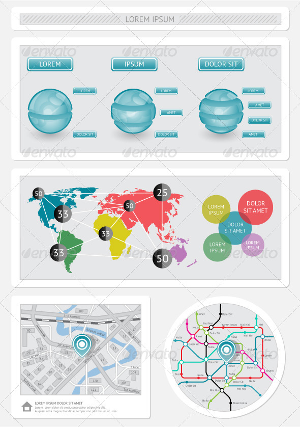 GraphicRiver Infographics and Web Elements 4062955
