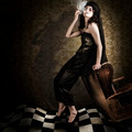 Fine Art Grunge Fashion Portrait In Dark Interior - PhotoDune Item for Sale
