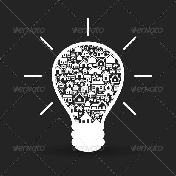 GraphicRiver House a Bulb 4063087