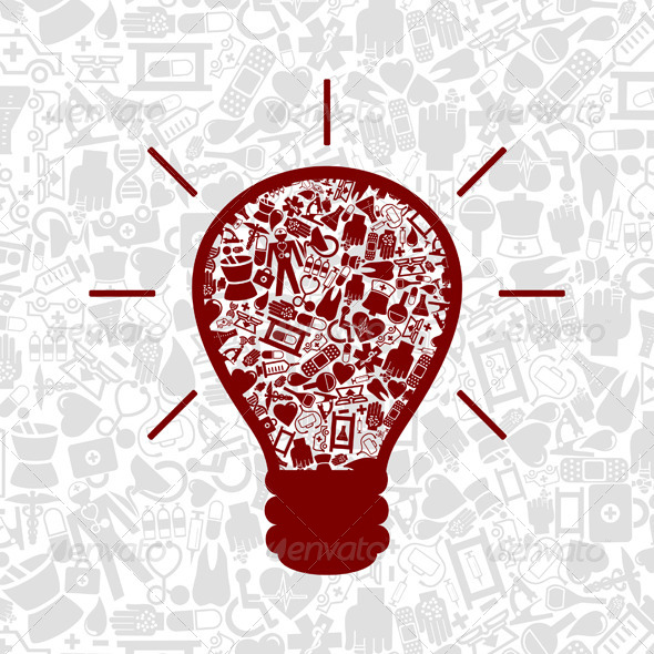 GraphicRiver Medicine a bulb 4063211