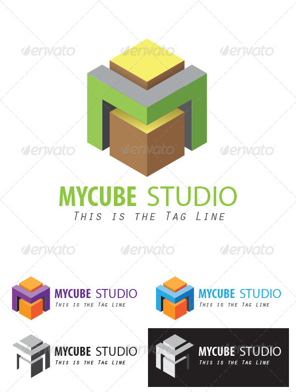 GraphicRiver A Cube-styled M Logo 3959404
