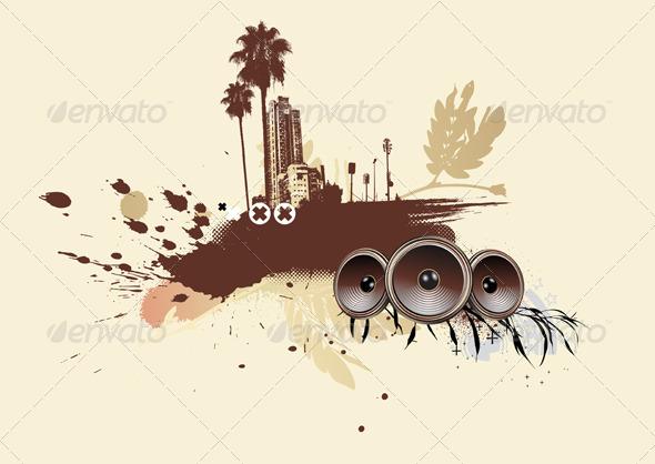 GraphicRiver Urban Grunge Background 4063265