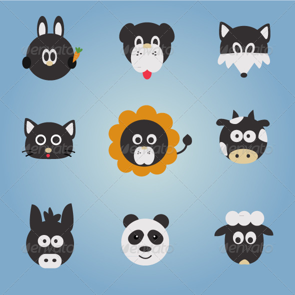 GraphicRiver Animal Vector Set 4063285