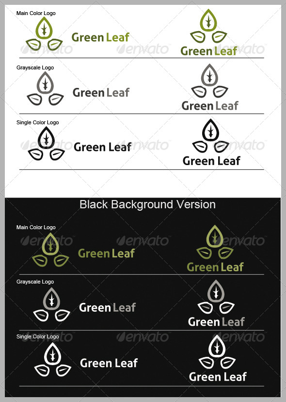 GraphicRiver Grean Leaf Logo 3945613