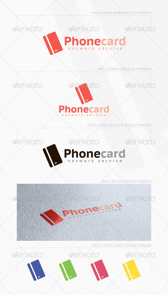GraphicRiver Phone Card Logo 3959171