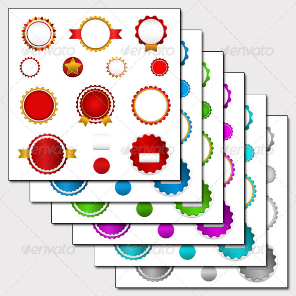 6 Sets of Sale Badges, Labels and Stickers - Retail Commercial / Shopping