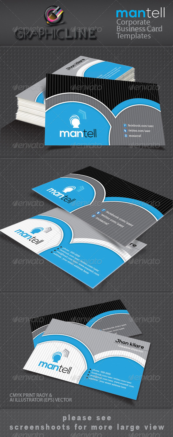 GraphicRiver mantell corporate business card 4063510