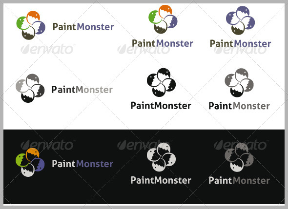 PaintMonster Logo - Abstract Logo Templates