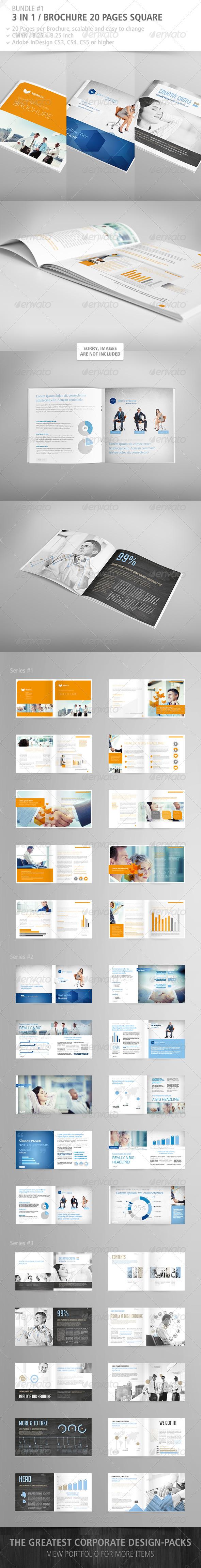 GraphicRiver Brochure Square 20 Pages Bundle #1 4063521