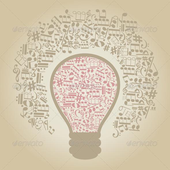 GraphicRiver Music Bulb 4063702