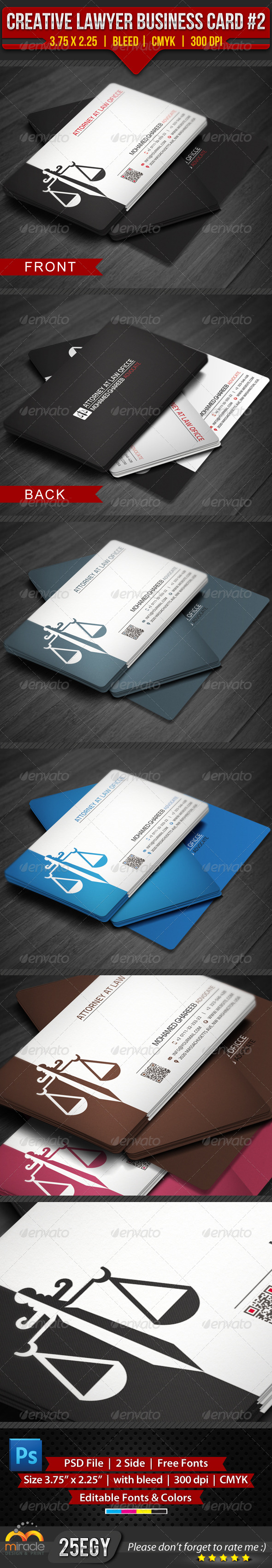 GraphicRiver Creative Lawyer Business Card #2 4063758