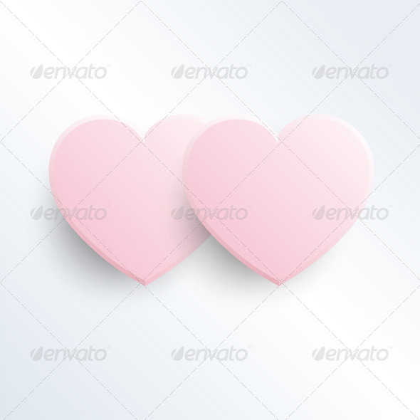 GraphicRiver Two Baby Pink Hearts 4063828