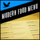 Modern Food Menu - GraphicRiver Item for Sale