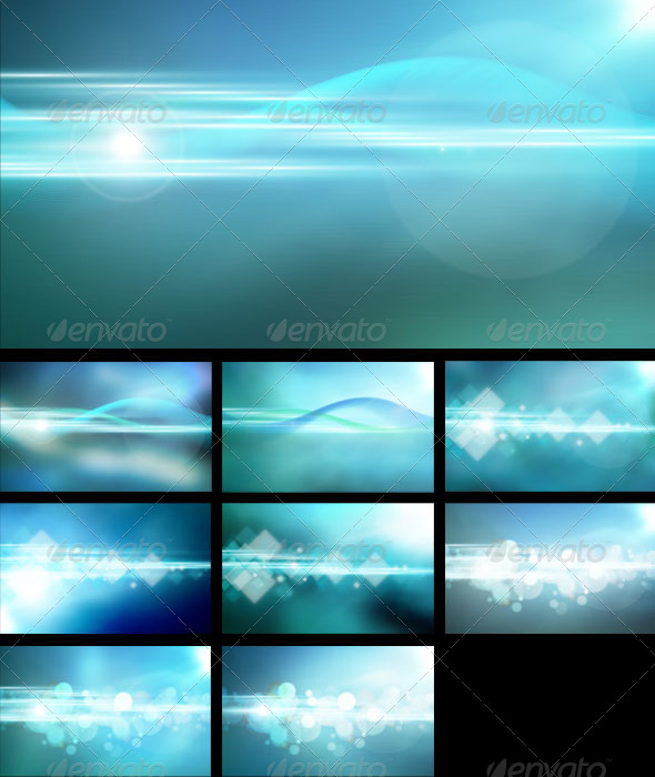GraphicRiver Blue Dream Backgrounds 4063937