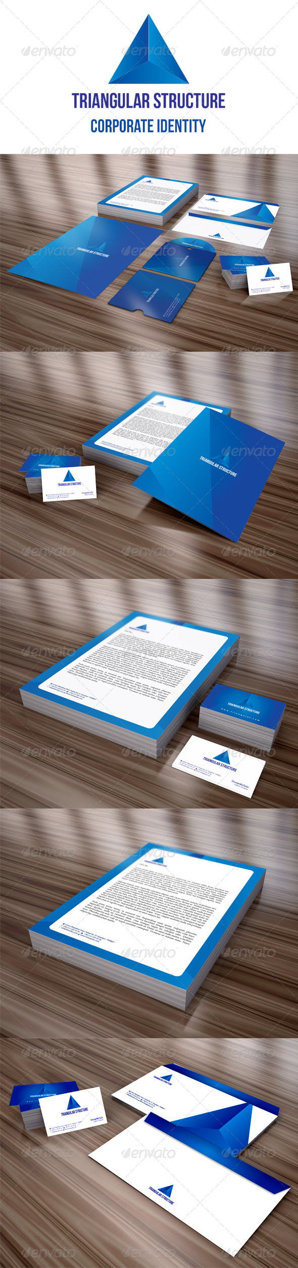 GraphicRiver Triangular Structure Corporate Identity Package 4063957