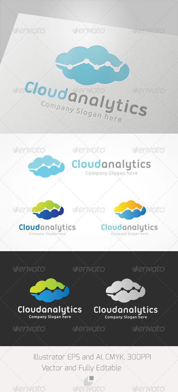 GraphicRiver Cloud Analytic Logo 4063989