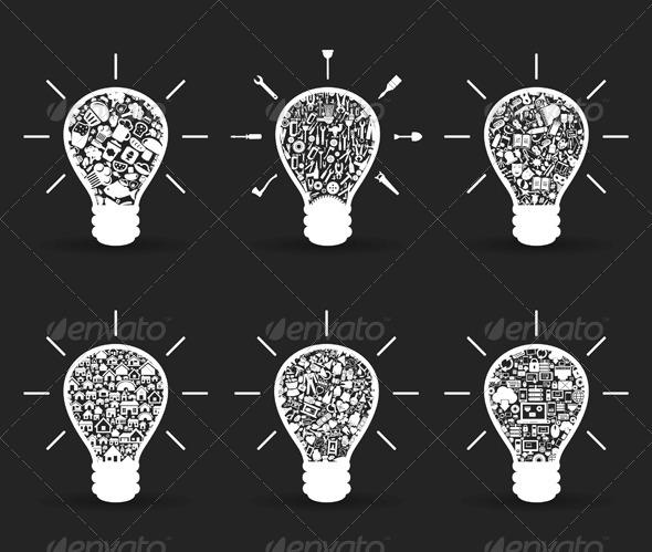 GraphicRiver Set of Bulbs 4063991