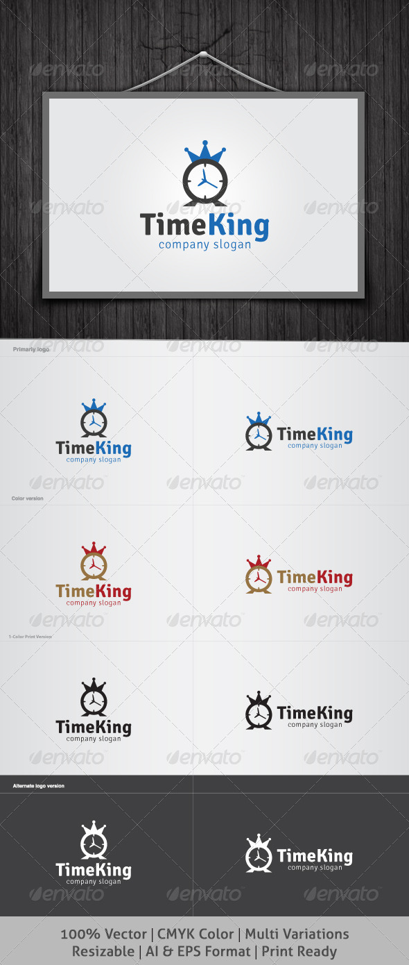 Time King Logo - Objects Logo Templates