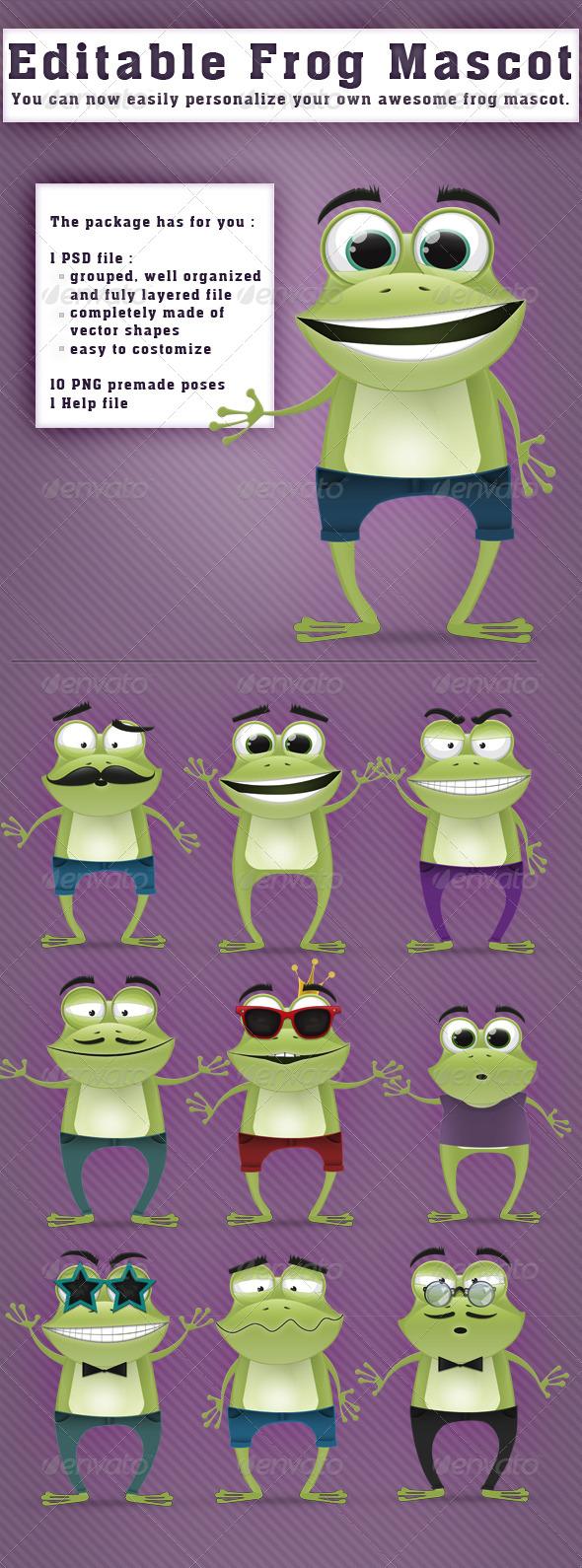 GraphicRiver Editable Frog Mascot 4064746