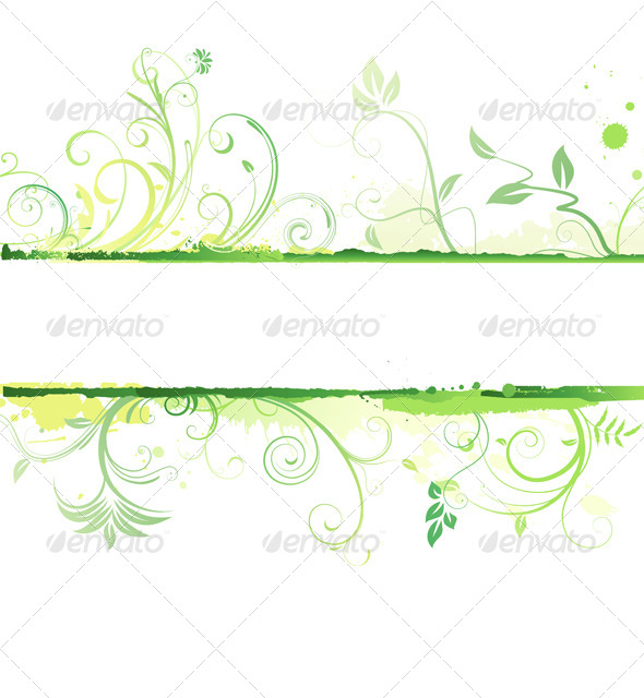 GraphicRiver Floral Decorative Banner 4064870