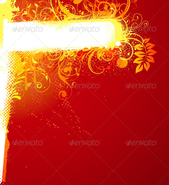 Floral Decorative Banner