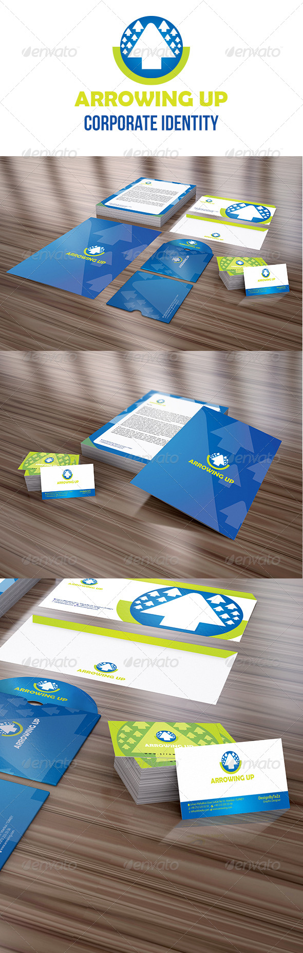 GraphicRiver Arrowing Up Corporate Identity Package 4064951
